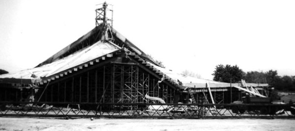 Holy Trinity Church in Robinson, under construction in 1965. It will be renovated with campaign funds.