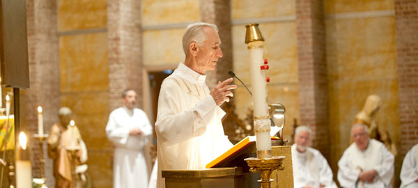 Father Mike Harcarik celebrates Mass during his Golden Jubilee in 2013. Credit: MD Photography