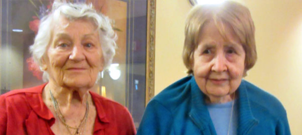 Mildred Giel (left) and Joan Heinecke of Paramount Senior Living in Baldwin.