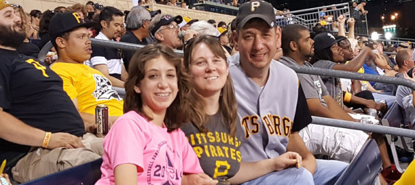 Families from Greene County parishes traveled to PNC Park on July 20 to take part in Faith Night activities. (credit: Greene County parishes)