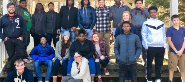 Teens and missionaries from Pittsburgh and Sharpsburg on retreat. (Photo courtesy of Dirty Vagabond Ministries)