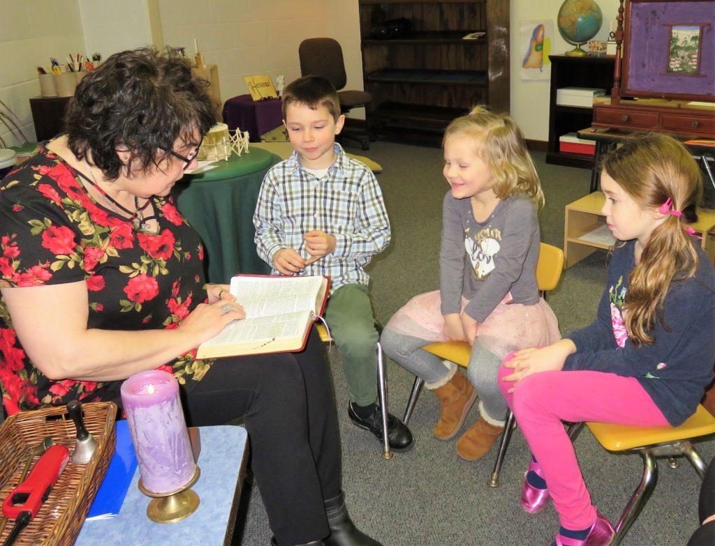 Vicki Pavalko teaches Catechesis of the Good Shepherd at  St. James the Apostle Parish.